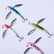 4 X Spinner Lure Fishing Bait Hook Tackle Sea Spoon Bass Trout Pike Hard Mental