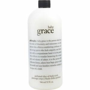 Philosophy BABY GRACE Perfumed Olive Oil Body Scrub Wash Supersize 32 oz