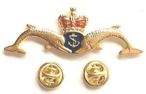 Royal Navy RN Submarine Service Cut-Out Large Enamel Lapel Pin Badge