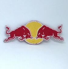 Red Bull Energy drink logo iron on Sew on Embroidered Patch
