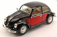 Model VW Beetle 1967 Car Red Black 1:24 Scale Diecast Detailed Kinsmart New Rare