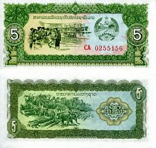 LAOS 5 Kip Banknote World Paper Money UNC Currency Pick p26a Note 1979 Bill