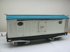 MTH Tinplate Traditions No. 214R Reefer Car White and Blue with Nickel Trim 10-2