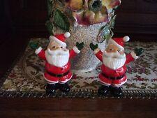 Christopher Radko Salt /& Pepper Shakers NEW IN BOX Christmas Set SPLENDID SANTA