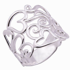 Heart Thailand Design Ring 925 Sterling Silver Giftsilver Size.UK=X