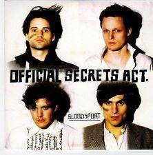 (EM203) Official Secrets Act, Bloodsport - 2009 DJ CD