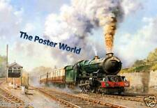 LOCOMOTIVE STEAM TRAIN OIL PAINTING PICTURE POSTER HOME ART PRINT / WALL DECOR