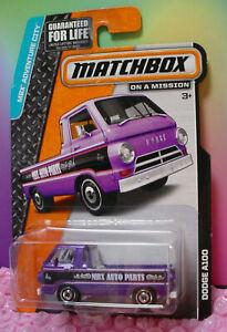 2014 Matchbox '66 DODGE A100 ☆purple;white; MBX AUTO PARTS☆Adventure City☆