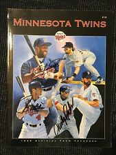 Kirby Puckett, Paul Molitor Marty Cordova Autographed Twins 1996 Twins Year Book