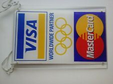 Hanging Visa/MasterCard Credit Card Logo Decal Sticker Display Signage Acrylic