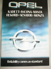 Opel range brochure Mar 1980 Ascona, Manta, Senator, Monza