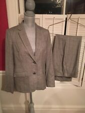 NEW w/ Tags Talbots Women's Grey Suit Woven in Italy Blazer Sz 8 Pant Sz 10 $239