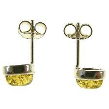 Pendientes de plata de ley 925 con ambar del Baltico joyeria