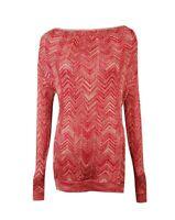 INC International Concepts Women's Cowl Chevron Knit Sweater