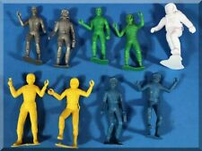 WHITE BLUE YELLOW GREEN SILVER SPACE MEN ASTRONAUTS MARX UNKNOWN FIGURES 6 INCH