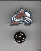 COLORADO AVALANCHE Hockey Team Logo METAL HAT LAPEL PIN New Sealed Mint