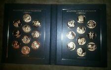 Franklin Mint Sculptors Studio Solid Bronze Medals Set First Edition Proofs RARE