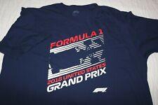 2018 Formula 1 US Grand Prix blue s/s shirt licensed product Fanatics size 2XL