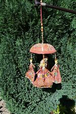 Handmade Indian Good Luck Elephant Hanging Mobile. Good Condition.