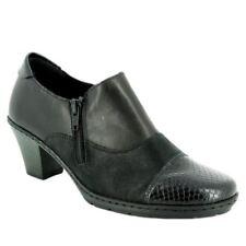 Chaussures plates et ballerines noires Rieker en cuir pour femme
