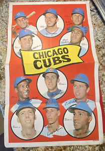 1969 Topps Team Poster Set Break CHICAGO CUBS GREAT CONDITION