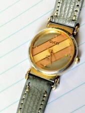 Autentico VINTAGE GUCCI Watch-Oro Rosa e Grigio-funzionale e buone condizioni