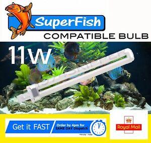SUPERFISH 11W 2 PIN  LIGHT BULB FOR AQUA 40 / 65 AQUARIUM FISH TANK 11 watt