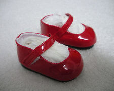 """Fits 18"""" Kidz 'n' Cat Doll - Bright Red Patent Leather Mary Janes - Shoes -D1424"""