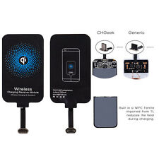 Qi Wireless Fast Charging Receiver Charger Card Micro USB For Samsung LG