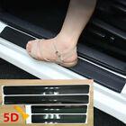 Car Accessories Door Sill Scuff Plate Protector Guard Carbon Fiber Stickers 4pcs