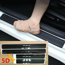 Car Accessories Door Sill Scuff Plate Protector Guard Carbon Fiber Stickers 4pcs Fits 2007 Sportage