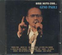 Gino Paoli - Una Sera Con… Cdor 8464 Ricordi Nobarcode Cd Ottimo Spedito in 48 H