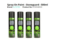 4 x Stone guard 500ml Black Spray Paint Stone chip Guard Aerosol AUTOTEK