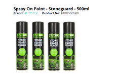 4 x Stone guard 500ml Black Spray Paint Stone chip Guard Aerosol AUTOTEK