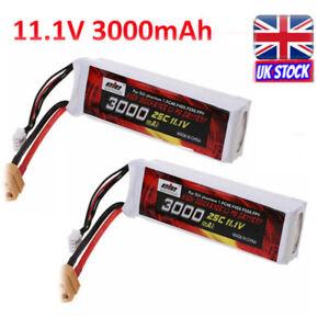 2x 1.1V 3000mAh Lipo Li-Po Battery 25C XT60 Plug for DJI Phantom 1 FC40 F45 F550