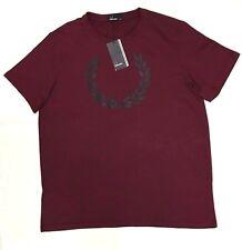 FRED Perry Laurel Stampa Da Uomo T Shirt Taglia. UK-XL -- M3294