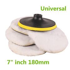 "Universal 7"" 180mm Car Polisher Soft Wool Clean Polishing Buffing Bonnet Pad Kit"