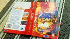 BOX ART ONLY Aladdin Original Sega Genesis Case Sleeve OEM