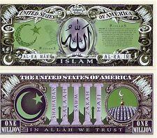 Islam Million Dollar Novelty Money