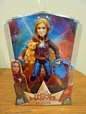 """Hasbro Captain Marvel Doll & Marvel's Cat Goose Avengers Super Hero Toy 11"""" NIP"""