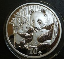 China 1oz .999 Fine Silver Proof 10 Yuan Panda 2005 Panda And Cub