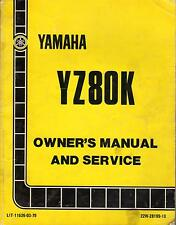 1983 YAMAHA MOTORCYCLE YZ80K LIT-11626-03-79 OWNER'S SERVICE MANUAL (409)
