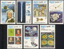 Kampuchea 1986 Halley's Comet/Copernicus/Galileo/Tycho Brahe/Space  7v set b8000