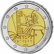 Italia  2€ 2009 Braille FDC