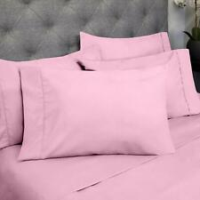 Attached Waterbed Sheet Set 1000 TC Comfort Egyptian Cotton Pink Solid