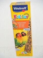 Vitakraft 21288 Kräcker Agaporniden mit Honig & Sesam, 2Stk.