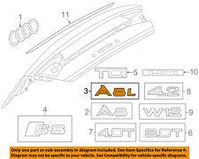 AUDI OEM 2015 A8 Quattro Grille Grill-License Plate Mount Bracket 4H0807285BBT94
