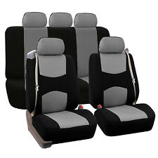 Car Seat Covers for integrated seat belts / built-in seat belt Gray Black