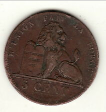 LEOPOLD 1 ER 5 CENTIMES 1847    a saisir !!