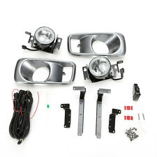 Clear Fog Light Set For 1999-2000 HONDA Civic Sedan Coupe w/Bezel Switch Wiring